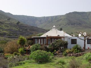 View of the house and the valley of Temisa, a protected landscape.