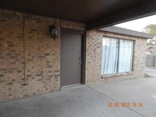 Entrance under covered parking