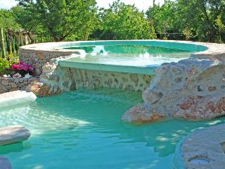 ROCK WATERFALL POOL RUSTIC