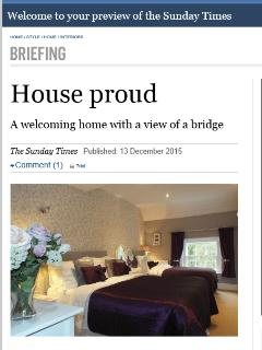 Featured in The Sunday Times - A welcoming home with a view of a bridge'