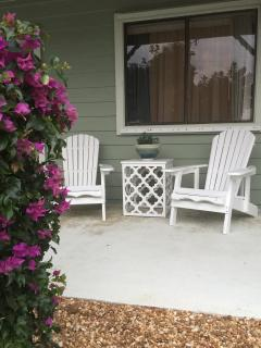 Relax on your front patio.