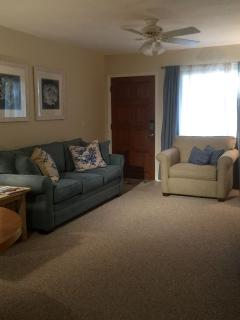 A relaxing living room with quality furnishings.