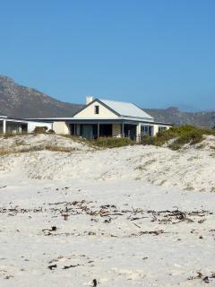 Our house (photo taken on the beach)