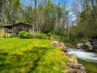 Trout Cabin, River 9 Acres 100% Private, Waterfall, Sapphire