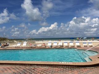 Heated pool that overlooks the beach