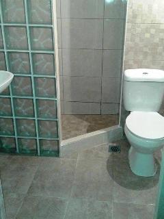 New bathrooms at Kavos Bay