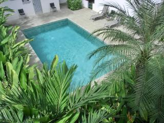 CasaBlanca, Balcony Views of Forested Green Belt, 3 Min to Beach! 3 Bedrooms, Playa Potrero