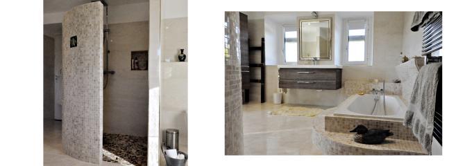 Main en suite bathroom and shower
