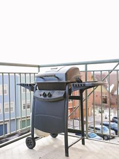 BBQ Grill on the private balcony