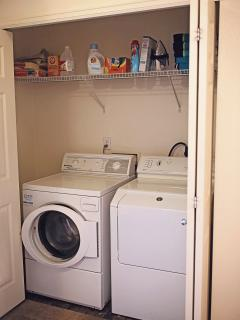 Full size washer and dryer in the loft