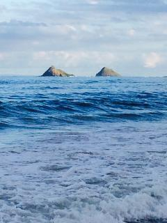 Mokolua islands off Kailua beach