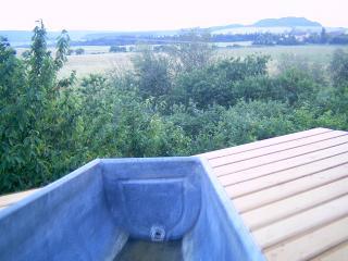 Bohemian Country Cabin 4 5, quiet, garden, & view., Konstantinovy Lazne