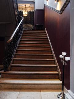 accès au premier étage