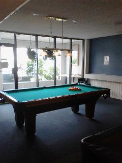 Billiard table within club house area from 8:30am to 11pm