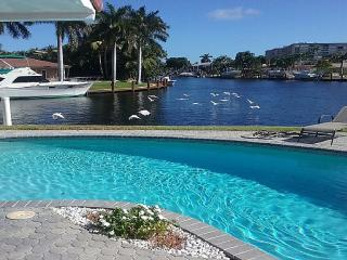 On the Water with Spectacular backyard Playground, Pompano Beach