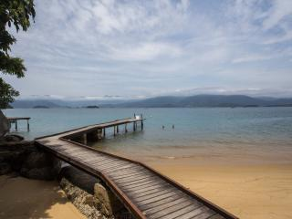 Private beach reach only by boat, Paraty