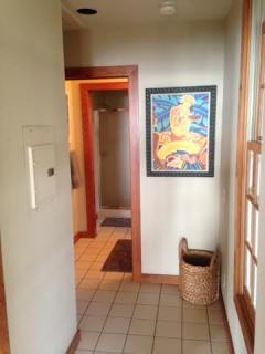Hallway to bath.