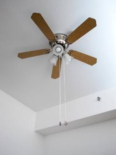 The apartment is nice and cool, with airconditioning, but ceiling fan is available for added comfort