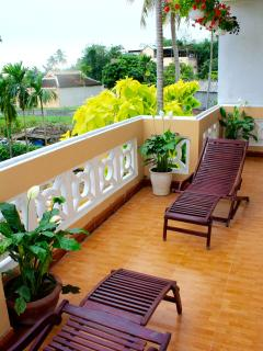balcony of for garden view  apartment