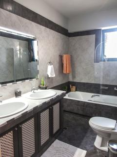 Main bathroom with bathtub