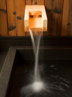 Our ofuro (Japanese bath) with natural spring water!