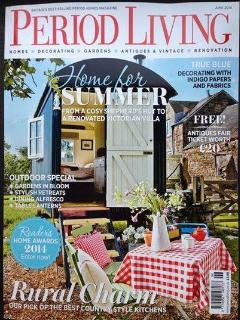 Our lovely hut on the front cover of Period Living Magazine
