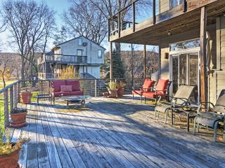 Relax and unwind on the expansive deck of this stunning home.