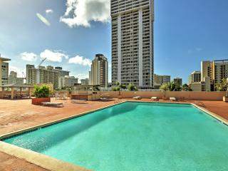 Recently Reduced Rates! Updated 1BR Honolulu Condo w/Wifi, Pool Access & Breathtaking City/Ocean Views - Just 3 Blocks from Waikiki Beach! Close to Shops, Restaurants, Attractions & More!