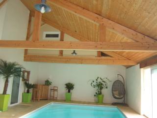 villa de charme 10 pers. avec piscine d'interieur, Saint-Geours-de-Maremne