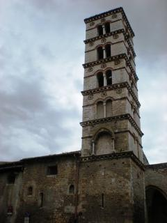 the tower of santa Maria Church in Sermoneta