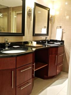 Master bath with his & her sinks and plenty of room!