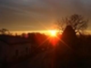 Sun setting at Labarthe