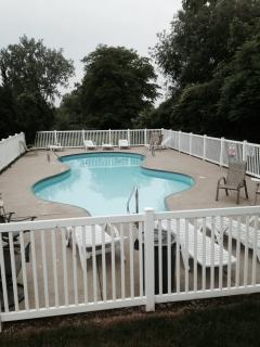 Onsite pool within steps of condo.  Only shared with 11 units