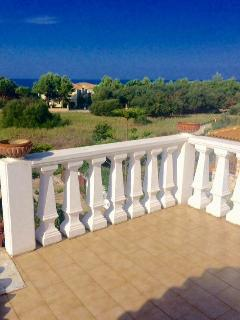 View from the top balcony of the villa!the sea is only 200meters away..