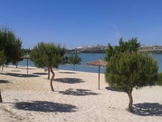 Newly created Arcos beach with swimming and boat rental area