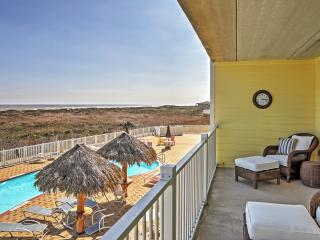 New Listing! Breezy 2BR Port Aransas Condo w/Wifi, Large Private Balcony & Spectacular Gulf/Pool Views - Wonderful Location Just Steps from the Beach!