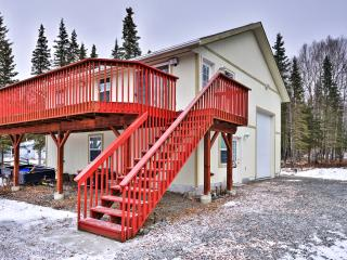 New Listing! 'A Hiada-way' Pristine 1BR Kasilof Apartment w/Wifi, Massive Private Deck & Picturesque Mountain/Water Views - Right on the Kasilof River! Easy Access to Fishing, Lakes & Neighboring Towns!
