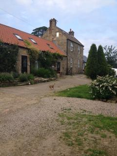 Wildflower is the cottage to the right, Daffodil cottage is next door, then Hollins Farm House.
