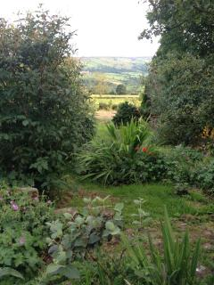 walled garden with views across Fryup Dale
