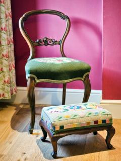 Hand picked by Christine Rowley; restored antique furniture compliments the décor throughout.