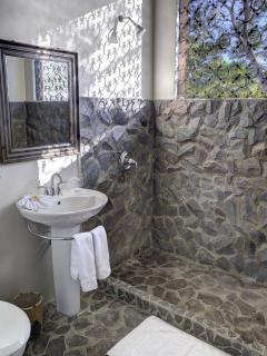 Bathroom with Stone work