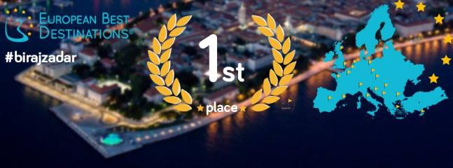 Zadar is the European Best Destination 2016!