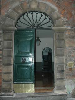 Palazzo entrance from Via San Giorgio