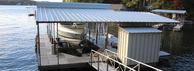 Private Dock with Large 13x34 Slip and Large Swim Platform - Great Fishing off the dock!