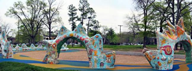 Dragon Park, just a few blocks away