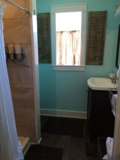 additional space available for extra fee, bathroom with shower