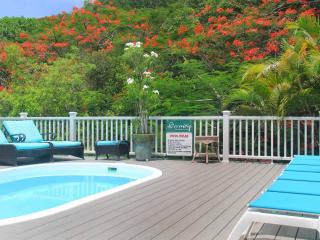 Enjoy cooling off in the pool or cook meals beside the poolside grill