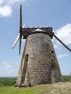 One of the Sugar Mills restored at Betty's Hope, visit the ruins and museum