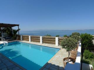 Lovely villa with swimming pool overlooking Aegean