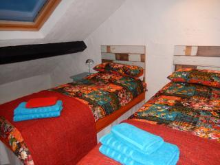 Twin Bed room, top floor, sea views